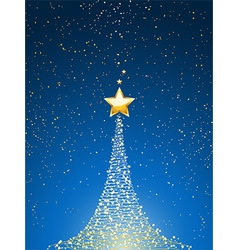 Christmas tree over blue portrait vector image