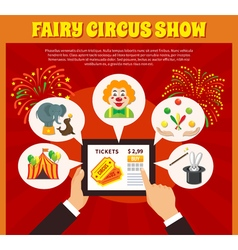 Circus website concept vector