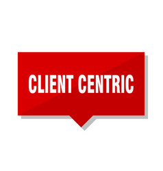 Client centric red tag vector