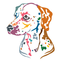 colorful decorative portrait of dog dalmatian vector image