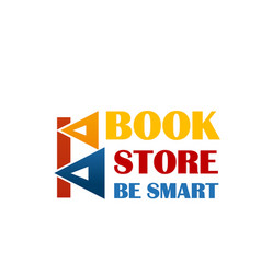 colorful sign for book market vector image