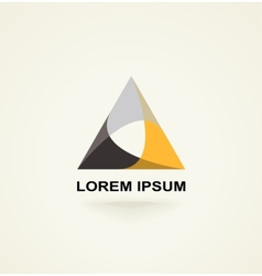 Conceptual triangle icon template logo vector image