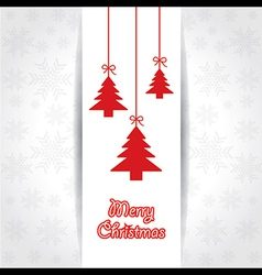 creative greeting card for merry christmas vector image