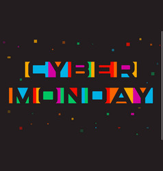 cyber monday poster discount card template vector image