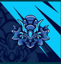 cyborg blue squad vector image