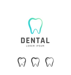 Dental emblem design vector