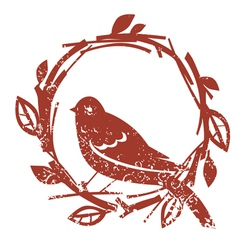 Design with bird vector image