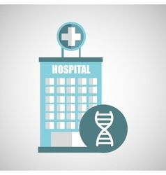 DNA science hospital building icon medicine vector