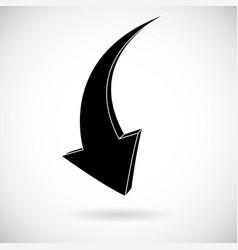 Down arrow black flat icon vector