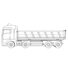 dump truck tracing of 3d eps 10 vector image