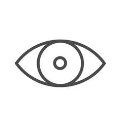 Eye line icon eye simple line icon symbol vector
