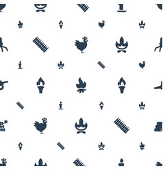 Fire icons pattern seamless white background vector