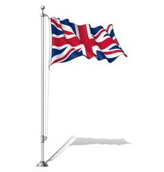Flag Pole UK vector