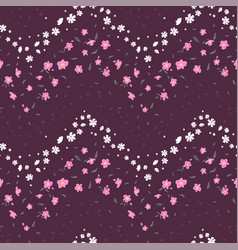 Fun hand drawn ditsy floral seamless pattern vector