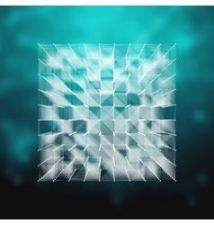 Glass - cube HUD element vector