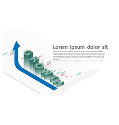 grow stock market trading forex graph futuristic vector image