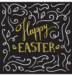Happy Easter greeting card design with vector image