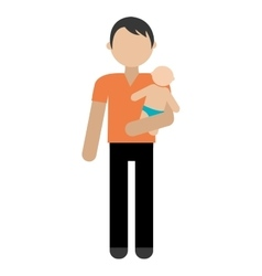happy family member character vector image