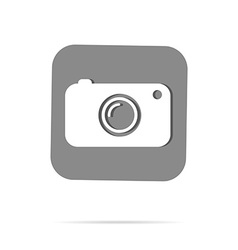 Hipster camera photo instagram digital label vector image