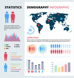 Infographic concept design of people population vector