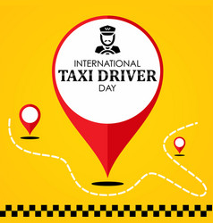 International taxi driver day template design vector