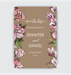 invitation for the wedding card with vector image