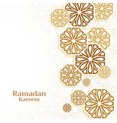 Islamic decoration background for ramadan kareem vector