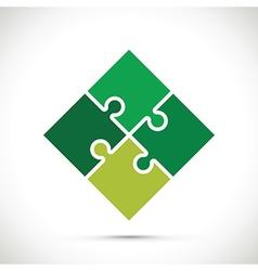 Jigsaw green vector