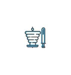 kebab icon design gastronomy icon vector image