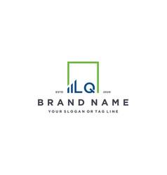 Letter lq square logo finance design vector