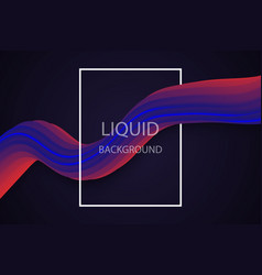 liquid wave background vector image