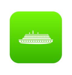 long ship icon digital green vector image