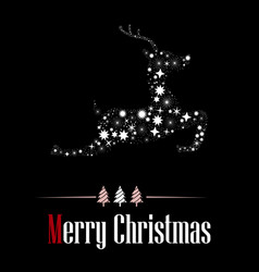 Merry christams with black background vector