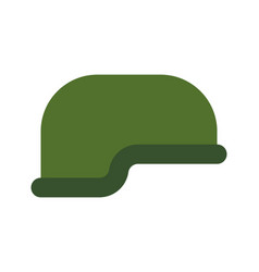 military helmet isolated soldiers protective cap vector image