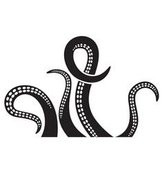 octopus tentacles design vector image