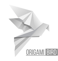 origami paper bird flying pigeon isolated on vector image