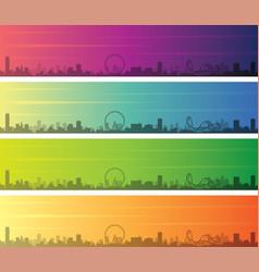 orlando multiple color gradient skyline banner vector image
