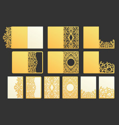 ornamental pocket folder decorative wedding vector image