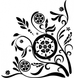 ornate corner vector image