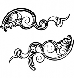 Ornate curves vector