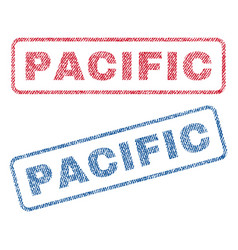 Pacific textile stamps vector