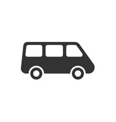 Passenger minivan sign icon in flat style car bus vector