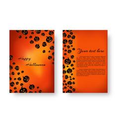rectangular catalog with pumpkins for halloween vector image