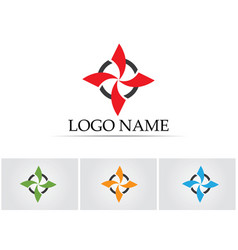 Red and blue star falcon logo template icon vector