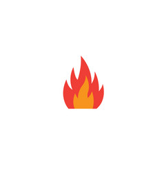 red fire symbol and flame for logo design vector image