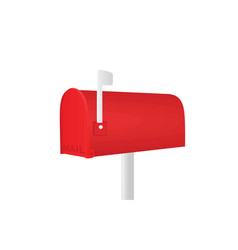 red mailbox vector image