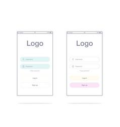 Screens and web concept vector
