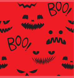 seamless pattern teeth smiling pumpkin vector image