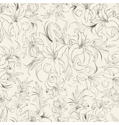 Seamless texture of lilies vector