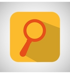 Searching cartoon loupe icon yellow background vector